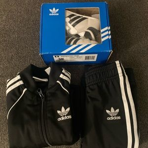Infant Adidas Tracksuit with matching shoes